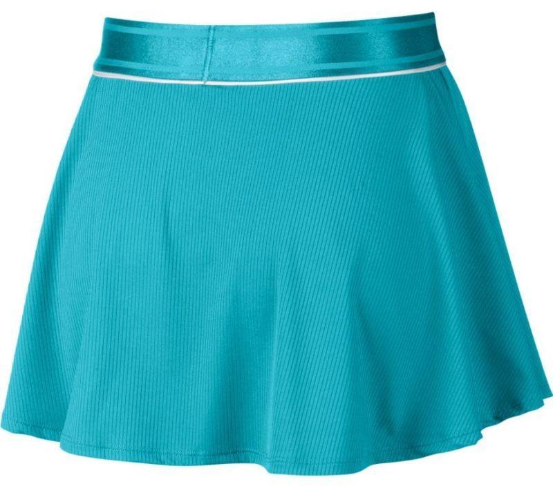 Теннисная юбка женская Nike Court Dry Flounce Skirt teal nebula/white/teal nebula