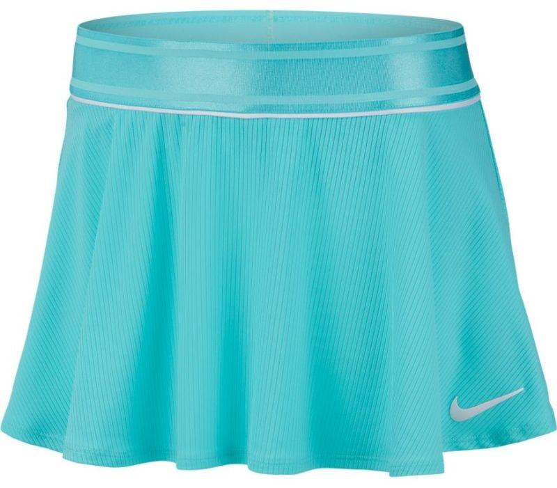 Теннисная юбка детская Nike Court G Flouncy Skirt light aqua/light aqua/white/white