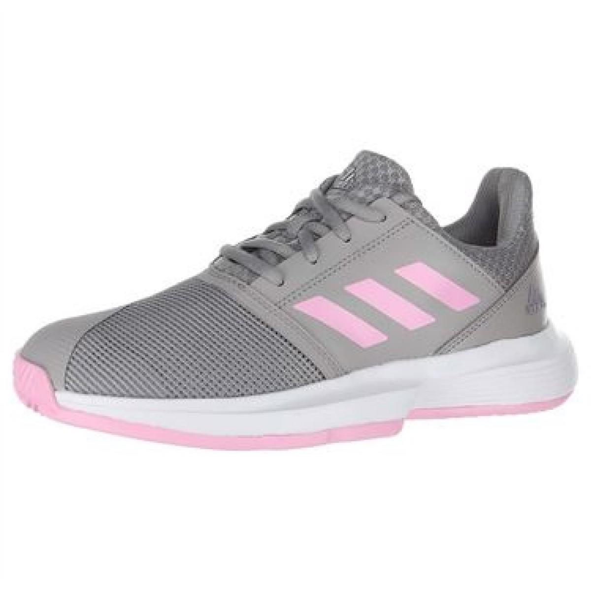 Детские теннисные кроссовки adidas CourtJam Junior grey/pink