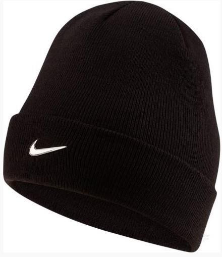Спортивная шапка Nike Beanie Metal Swoosh black/black/metallic silver
