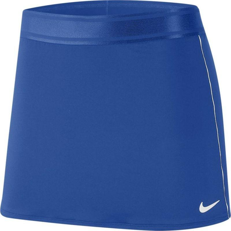 Теннисная юбка женская Nike Court Dry Skirt game royal/white/white/white