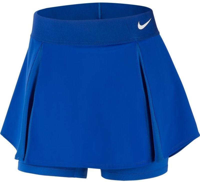 Теннисная юбка женская Nike Court Elevated Flouncy Skirt game royal/white