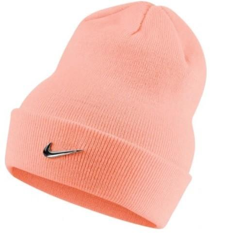 Спортивная шапка Nike Beanie Metal Swoosh light pink/metallic silver