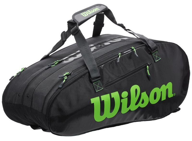 Теннисная сумка Wilson Super Tour 3 Comp 15 Pk charcoal/green
