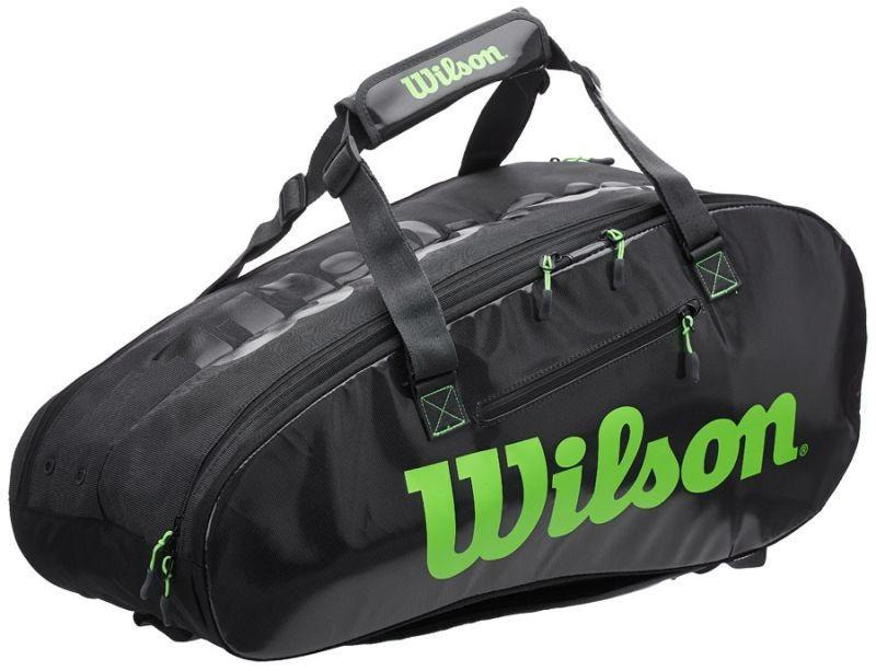 Теннисная сумка Wilson Super Tour 2 Comp Large 9 Pk charcoal/green