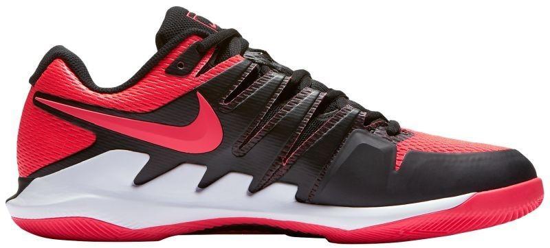 Детские теннисные кроссовки Nike Air Zoom Vapor 10 HC Jr black/solar red/white
