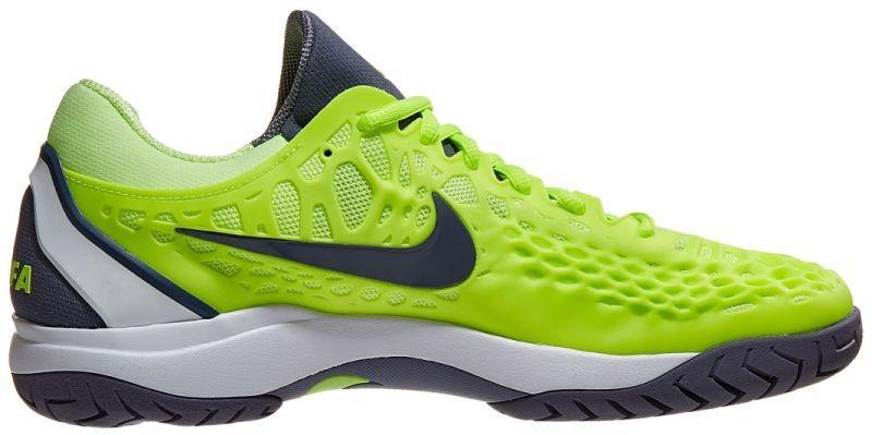 Теннисные кроссовки мужские Nike Air Zoom Cage 3 HC volt glow/light carbon/white