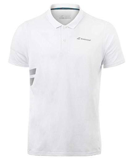 Теннисная футболка мужская Babolat Core Polo Pique Men white поло
