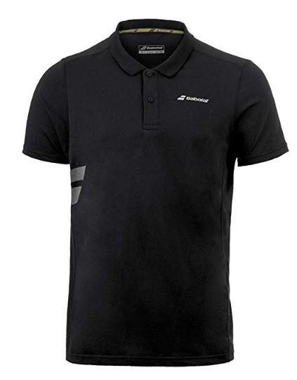 Теннисная футболка мужская Babolat Core Polo Pique Men black поло