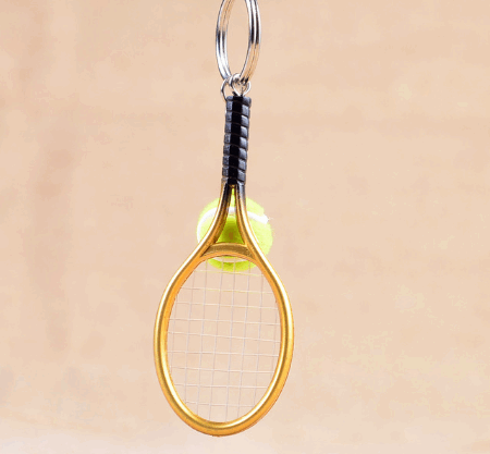 Брелок Mini Tennis Racket Key Buckle gold