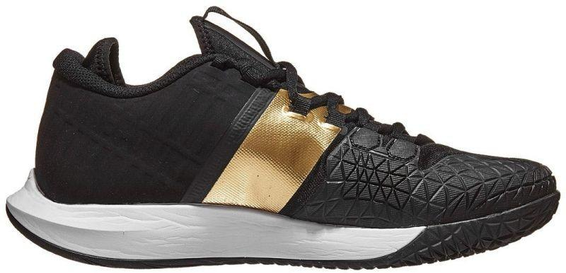 Теннисные кроссовки мужские Nike Court Air Zoom Zero black/black/metallic gold