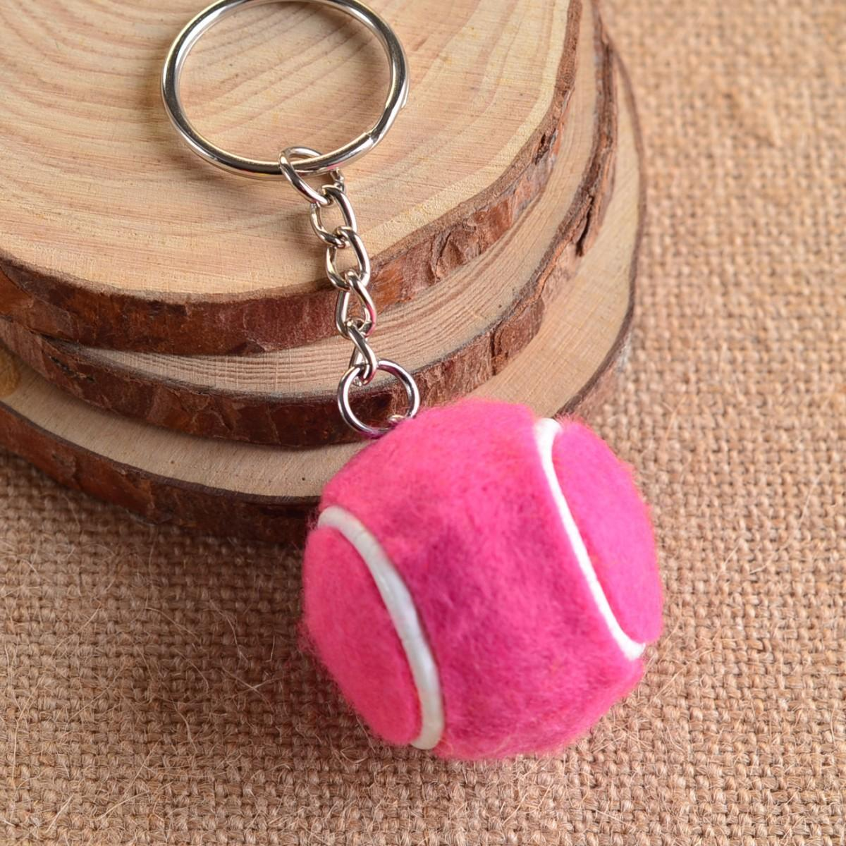 Брелок Mini Tennis Ball Key Buckle pink
