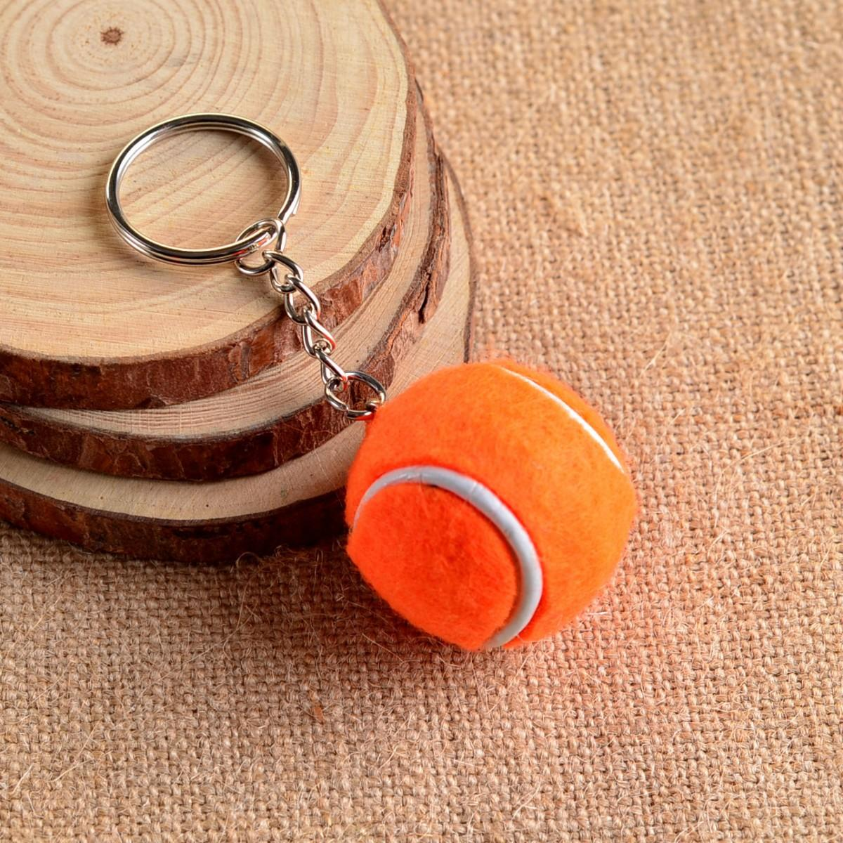 Брелок Mini Tennis Ball Key Buckle orange