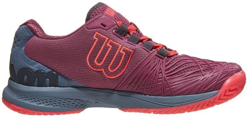 Теннисные кроссовки женские Wilson Kaos 2.0 plum/flint stone/neon red