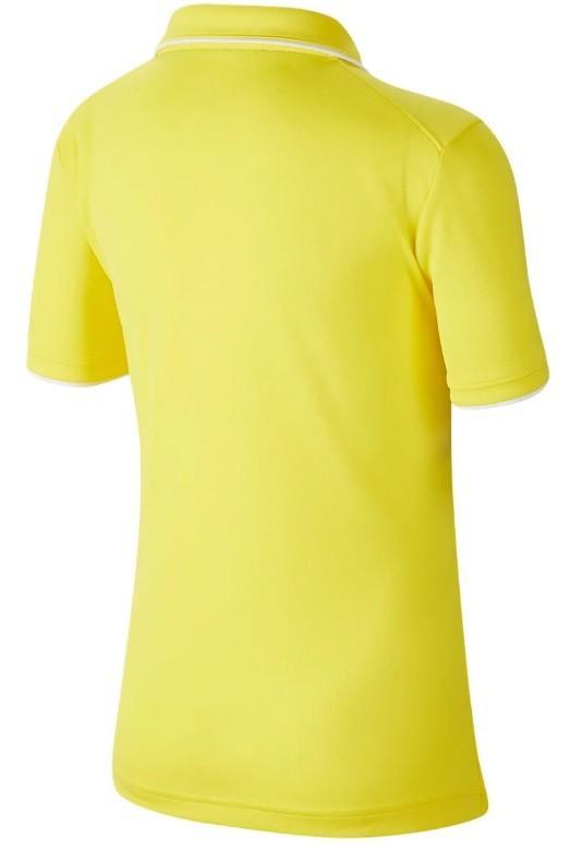 Теннисная футболка детская Nike Court B Dry Polo Team opti yellow/white
