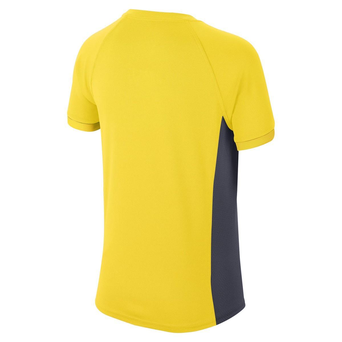 Теннисная футболка детская Nike Court Dry T-Shirt Boy opti yellow/gridiron