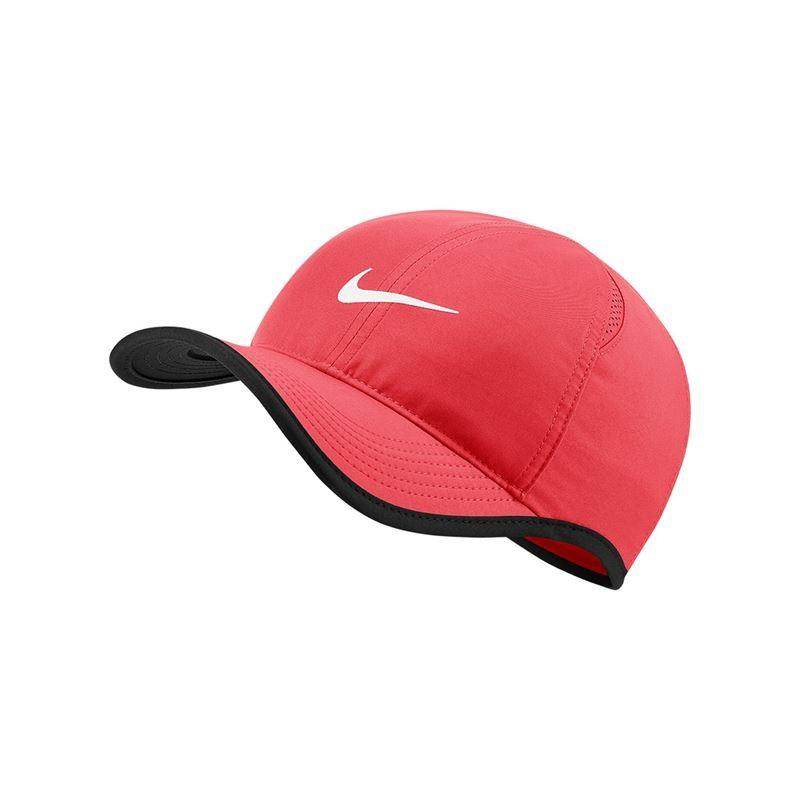 Теннисная кепка Nike Feather Light Cap ember glow/black/white
