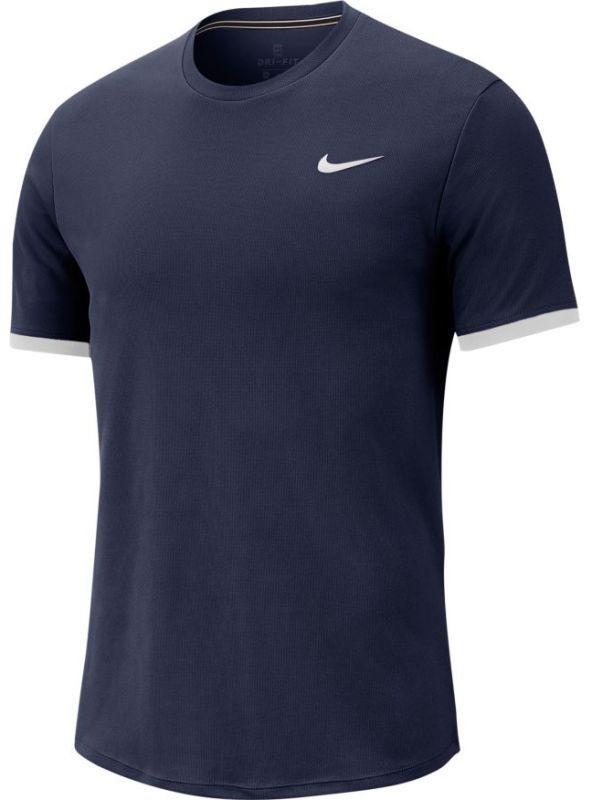 Теннисная футболка мужская Nike Court Top SS obsidian/white/white