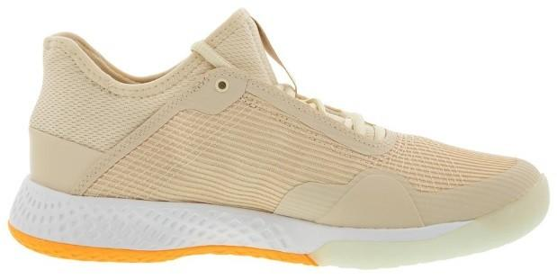 Теннисные кроссовки женские Adidas Adizero Club W linen/fresh orange/white