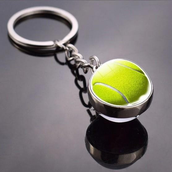 Брелок Fashion Glass Tennis Ball Keychain