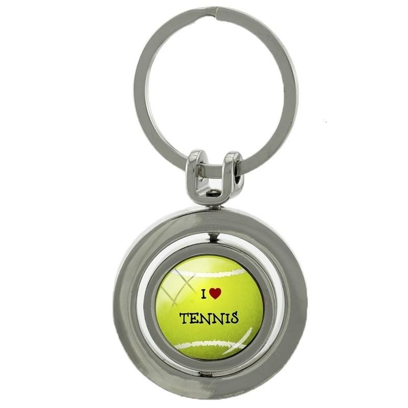 Брелок Tennis Ball Key Chain Rotatable Round Key Ring
