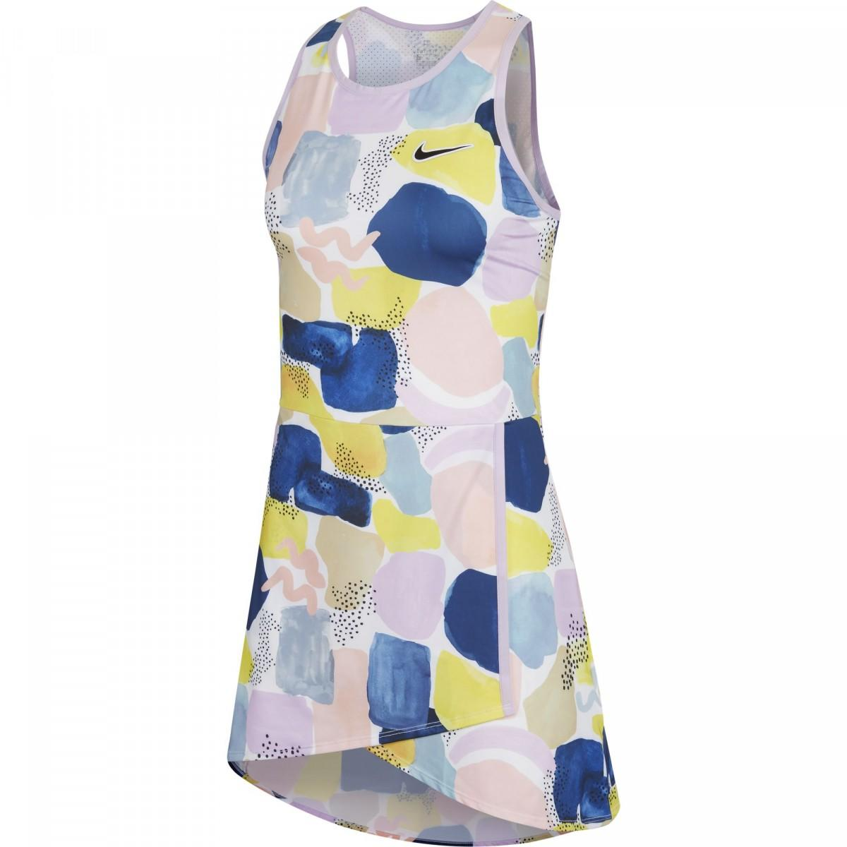Теннисное платье женское Nike Court Team Dress Melbourne W lilac mist/off noir