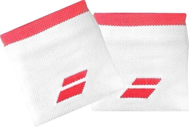 Напульсник Babolat Logo Wristband white/fluo strike
