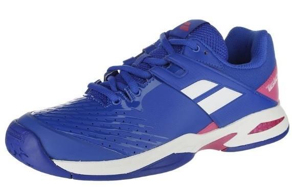 Детские теннисные кроссовки Babolat Propulse All Court Junior blue/pink