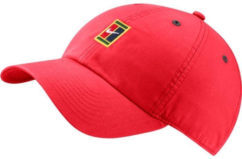 Теннисная кепка Nike H86 Court Logo Cap ember glow