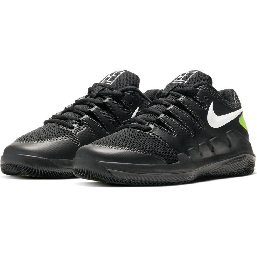 Детские теннисные кроссовки Nike Air Zoom Vapor 10 HC Jr black/white/volt