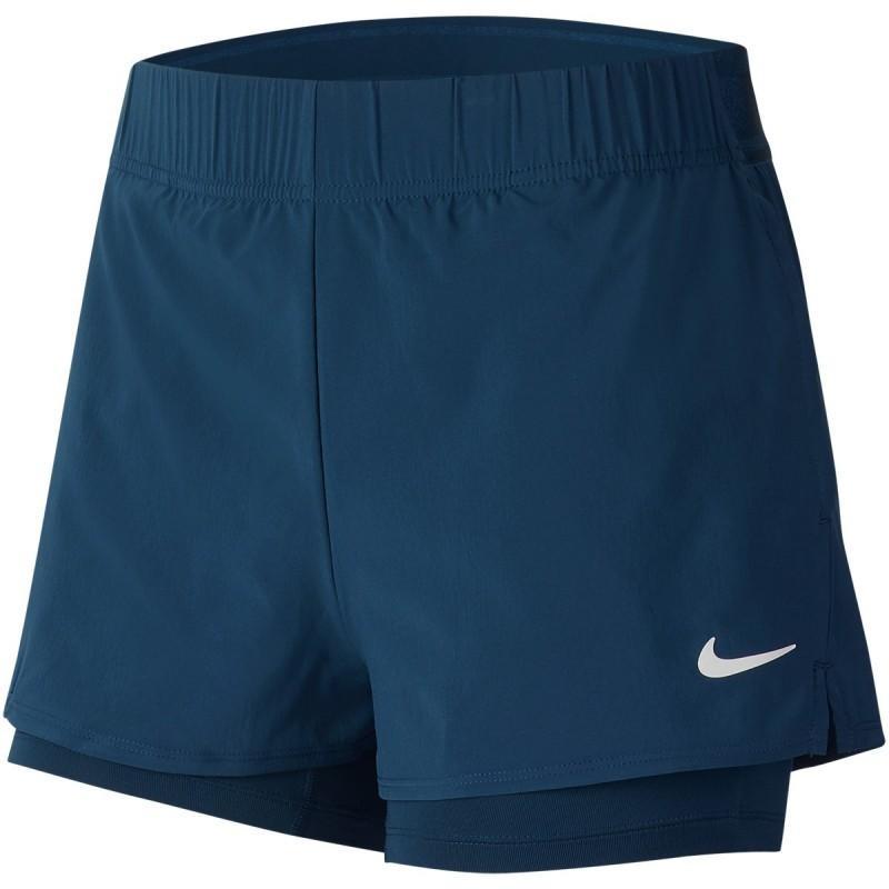 Тенісні шорти жіночі Nike Court Flex Short valerian blue/white