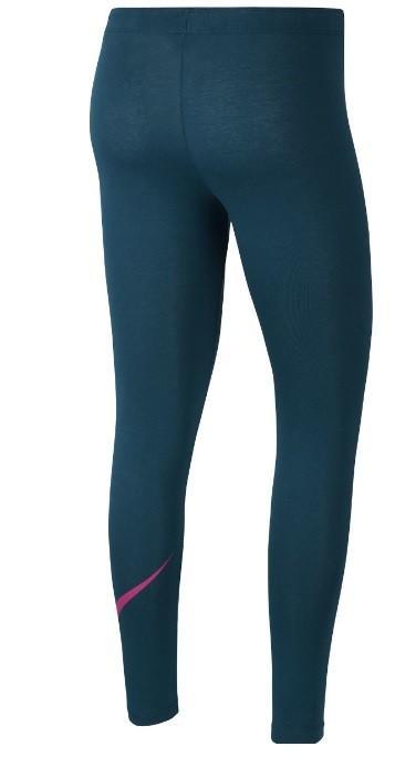 Легинсы детские Nike Favorites Swoosh Tight midnight turquise/fire pink