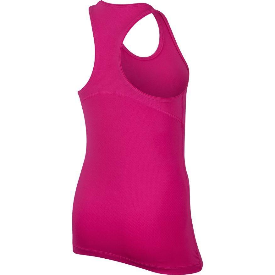 Теннисная майка детская Nike Pro Tank fire pink/black