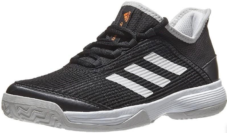 Детские теннисные кроссовки adidas Adizero Club Junior black/white/grey one