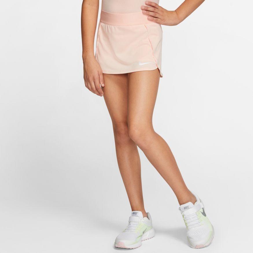 Теннисная юбка детская Nike Court Skirt STR washed coral/white
