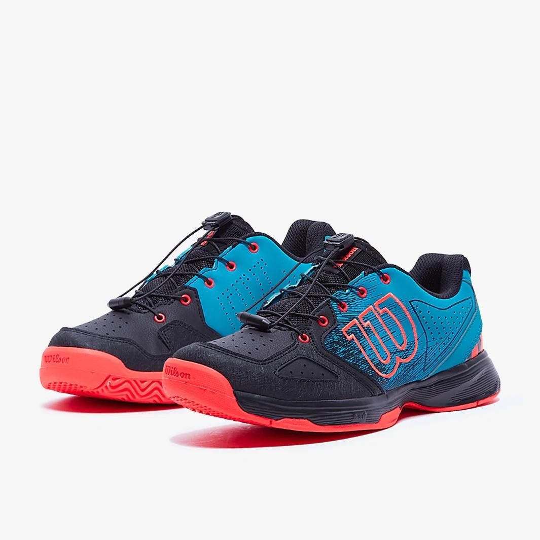 Детские теннисные кроссовки Wilson Kaos QL Junior hawaiian surf/black/fiery coral