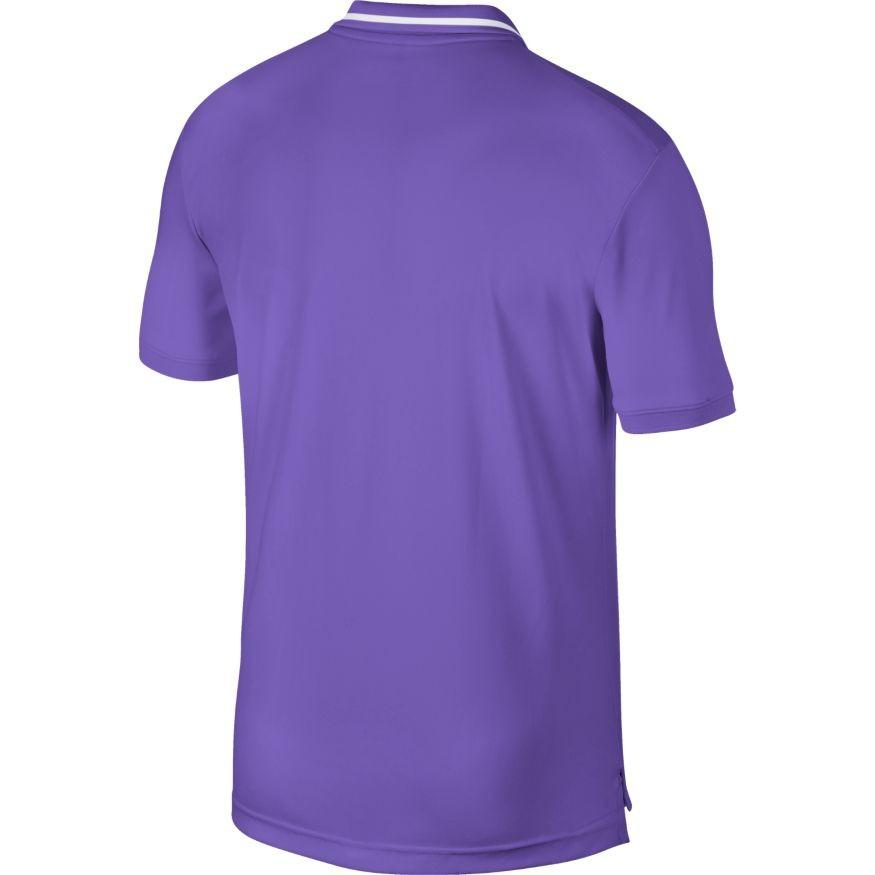 Теннисная футболка мужская Nike Court Dry Pique Polo psychic purple/white/psychic purple