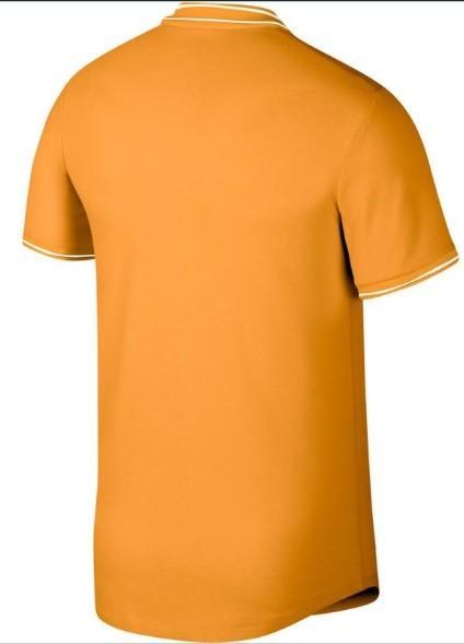 Теннисная футболка мужская Nike Court Advantage Polo canyon gold
