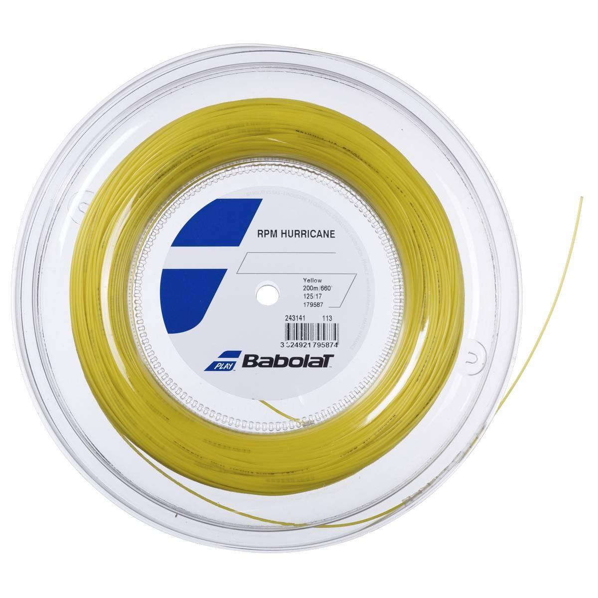 Струна Babolat Pro Hurricane yellow 12 m натяжка с бобины