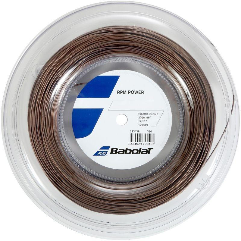 Струна Babolat RPM Power electric brown 200 m натяжка с бобины