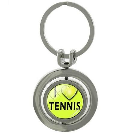 Брелок Tennis Ball Key Chain Rotatable Round Key Ring BH