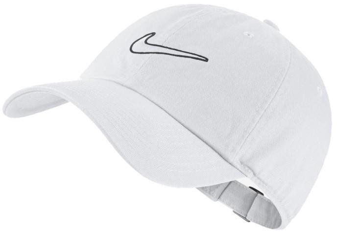 Теннисная кепка Nike H86 Essential Swoosh Cap white/white