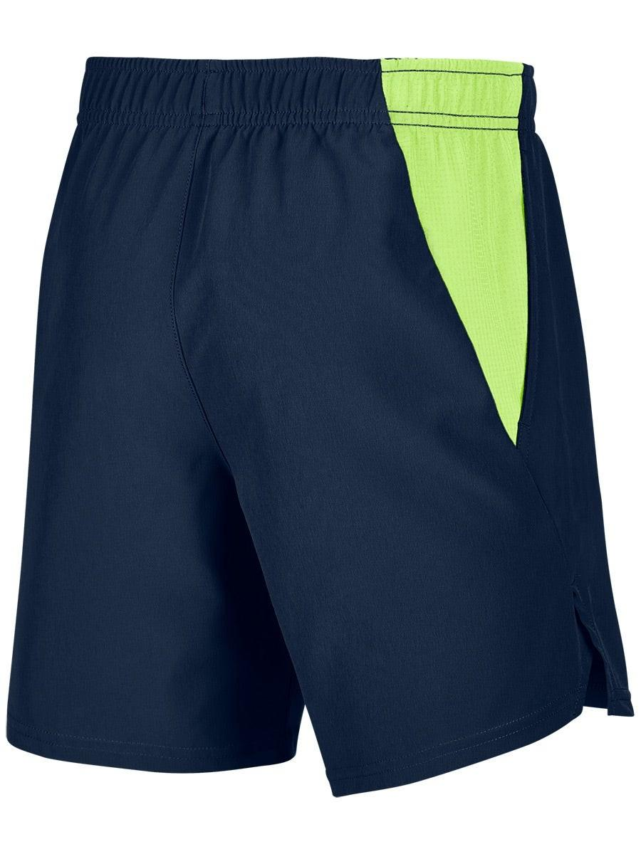Теннисные шорты детские Nike Boys Court Flex Ace Short obsidian/ghost green/ghost green
