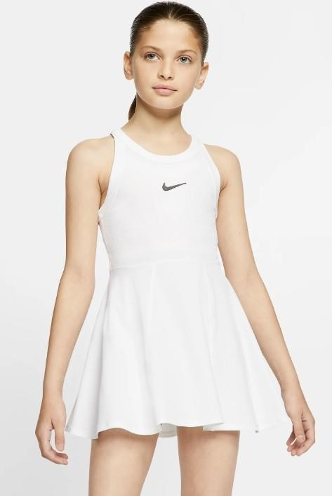 Теннисное платье для девочек Nike Court Dry Dress white/black