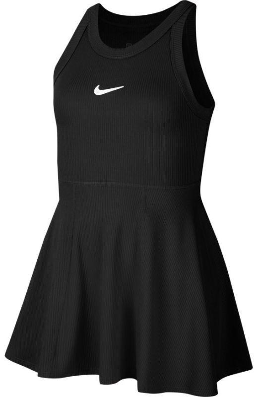 Теннисное платье для девочек Nike Court Dry Dress black/white