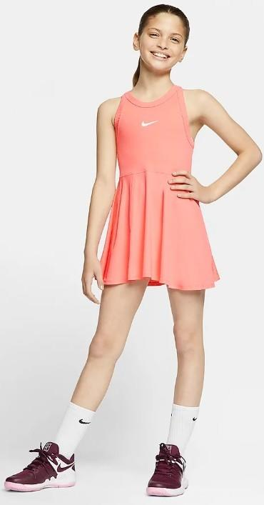 Теннисное платье для девочек Nike Court Dry Dress sunblush/white