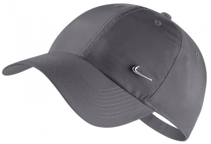 Теннисная кепка Nike H86 Metal Swoosh Cap gunsmoke/metallic silver