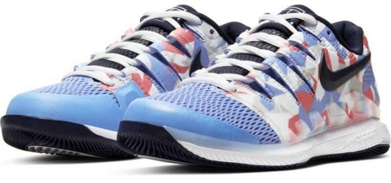 Теннисные кроссовки женские Nike WMNS Air Zoom Vapor 10 HC royal blue/obsidian/white