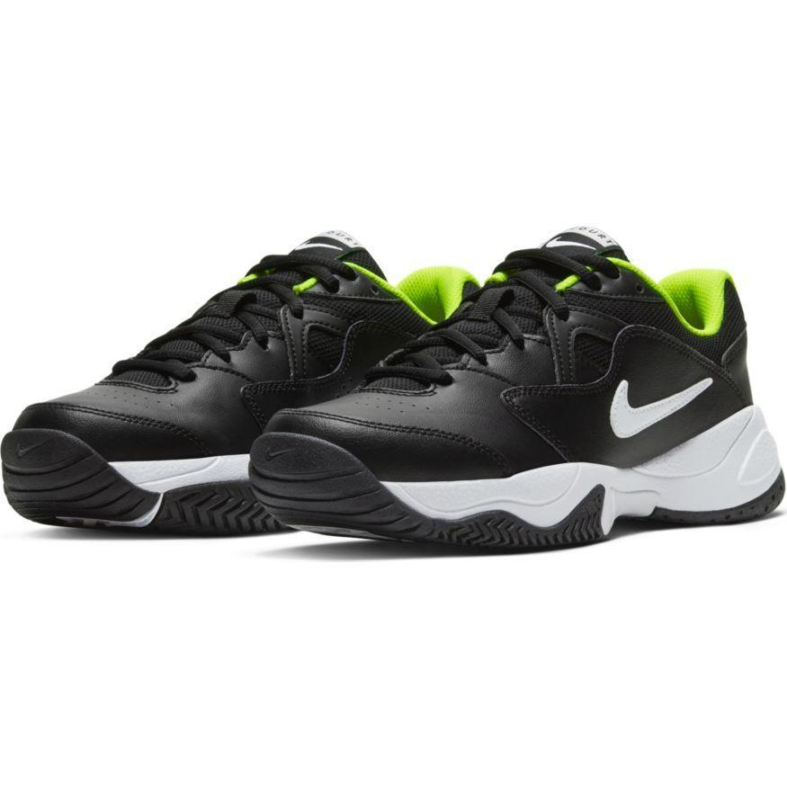 Детские теннисные кроссовки Nike Jr Court Lite 2 black/white/volt