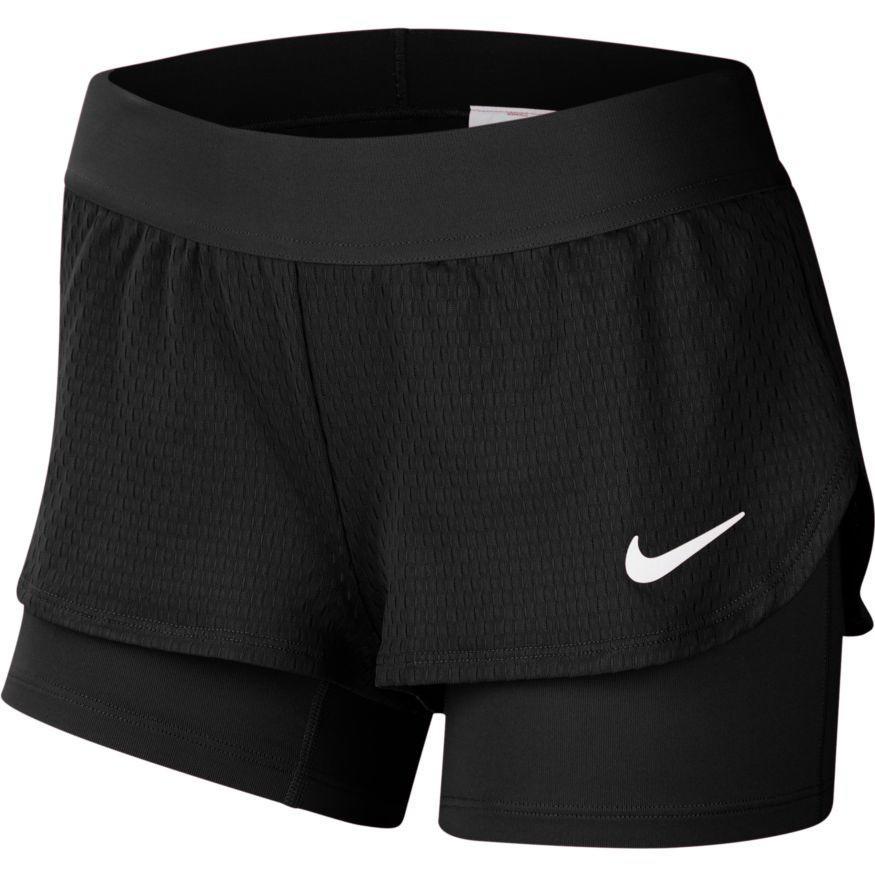 Теннисные шорты детские Nike Girls Court Flex Short black/white